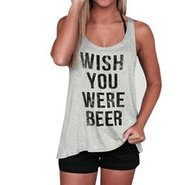b7a217aa30b Pop 2019 FEITONG Letter Print T-Shirt Womens Sleeveless Tank Crop Tops Vest Blouses  Funny Top Tshirt Women For Female  30