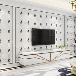 2019 papel pintado moderno de lujo Living Thicken Modern Room Gamuza Papel tapiz de cuero Rollo Europeo de lujo Floral Carta Parati Fondo Papel de pared para paredes papel pintado moderno de lujo baratos