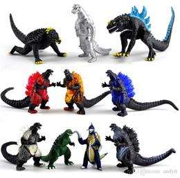 2019 ursinho de peluche preto e rosa Godzilla Ação Toy 6 cm Figura Godzilla Monstros Figura de Ação Brinquedos Melhor Presente para As Crianças Fontes Do Partido 10 pçs / set Crianças brinquedos I302.