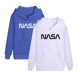 Rojo azul blanco con capucha online-Sudaderas con estampado de diseñador para hombre Sudaderas con capucha para hombre de Hip Hop NASA Sudaderas Streetwear Sudaderas negras rojas azules