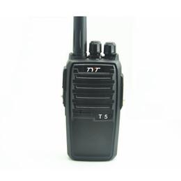 radio t5 Rebajas El más nuevo receptor de radio / walkie talkie de mano bidireccional TYT T5 VHF 136-174 mhz CTCSS / DCS TYT T-5 transceptor de jamón CB portátil para minería