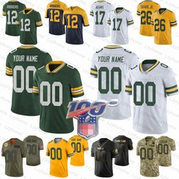 Verde baia jersey bianco online-Personalizzati donne Mens bambini Green Bay 12 Aaron Rodgers 69 David Bakhtiari GB Packer maglie 15 Bart Starr Aaron Jones Reggie White 31 Adrian Amos