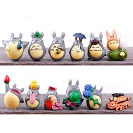Figurine anime online-PrettyBaby Anime Cartoon Il mio vicino Totoro Lovely Mini PVC Figure Giocattoli Bambole Giocattoli per bambini Regali Zakka Figurine Resine Spedizione gratuita