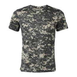 camisa de combate verde Rebajas Nuevo Camuflaje Camiseta Hombre Ejército de Aire Transpirable Combate Táctico Camiseta Militar Camo Campamento Seco Tees-ACU Verde