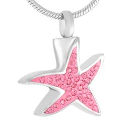 amuletos de cremación para las cenizas Rebajas Crystal Star Urn Hold Ashes Memorial Jewelry Ash Keepsake Urns Cremation Urn Colgante Collar para mascotas / Cenizas humanas Fashion Charm