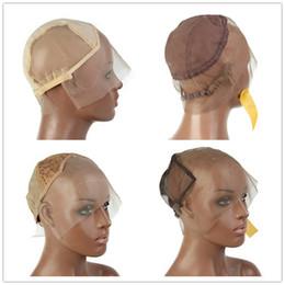 Parrucca online-Glueless parrucca piena del merletto Cap 13X6 parrucca anteriore del merletto netto Cap tappi per tessere L / M / S Tappi per parrucche per fare parrucche regolabili
