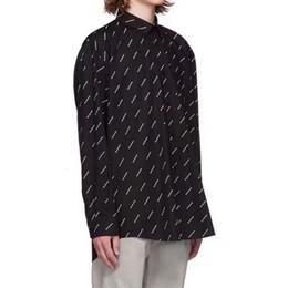 Chemises complètes occasionnels en Ligne-19SS BLCG LOGO Chemise Haut Imprimé Noir Blanc Hommes Femmes Chemise Mode Casual Rue Soleil Protection Vêtements Outwear Veste HFHLCS016