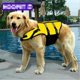 kleidungsretter Rabatt 1X Hund Schwimmweste Reflektierende Saver Preserver Floatation PuppyVest Float Coat Kleidung