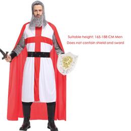 Костюм солдатских женщин онлайн-Мода Хэллоуин Древнеримские греческого солдат Гладиатор костюмы Кожа Воин Костюм для взрослых мужчин женщин Пары