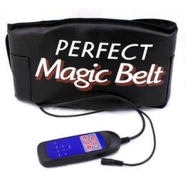 2019 masajeador estimulador Termocalentamiento Sauna Masajeador Cinturón Máquina de vibración Estimulador muscular abdominal Tóner Esbelto Shaper Care Cinto De Apoio Lombar masajeador estimulador baratos