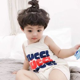Tuta generale dei ragazzi online-VISTITI da bambino! Tuta da neonato per bambina in cotone tinta unita Pagliaccetto Tuta infantile 3-24M per Ropa Bebe