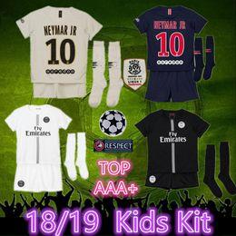 e5ea6e553 aaa+ 2019 Jordam PSG kids kit+socks soccer jersey 2018 MBAPPE CAVANI Paris  Saint Germain jersey 1819 Champions League psg football jerseys discount  paris ...