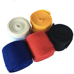 2019 luvas de luvas de soco bandage Pure 2.5m algodão boxe, banda de combate, banda boxe tailandês muay, banda combate livre, protetor de mão