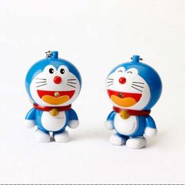ha portato i giocattoli degli amanti Sconti Doraemon Keychain Doraemon Collection Action Figure Giocattoli Luce del suono LED Portachiavi Portachiavi Ciondoli gioielli di moda 170868