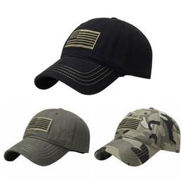 2019 Cappello Camo nuovi uomini American Sports tonale Bandiera zona del ricamo curvo Cap militare tattico Operatore staccabile Army Baseball da le coperture all'ingrosso del cappello della lettera fornitori