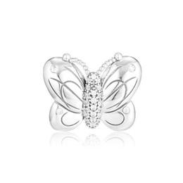 braccialetti decorativi Sconti New Authentic 100% 925 Sterling Silver Decorative Butterfly pavimenta i branelli di fascino di cristallo misura i braccialetti originali di marca DIY che fa monili