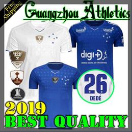 Futebol brasileiro on-line-2019 2020 camisa de futebol CRUZEIRO 19 20 DE ARRASCAETA FRED ROBINHO THIAGO NEVES camisa de futebol Cruzeiro home Clube brasileiro Camisas