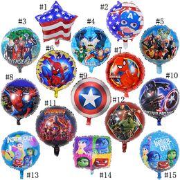 Canada Enfants vengeurs ballons jouets gonflables marvel fête d'anniversaire ballons décorations fournitures fournitures bulle hélium feuille ballon 18 pouces Offre