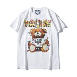 d camisa gris hombre Rebajas Diseñador de Mens T Shirts 2019 Explosión Hombres Mujeres Carta Printe Camisetas Patrón Hombres Moda de Lujo Top Tee Tendencia de ropa