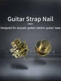 soundhole da guitarra Desconto Correia de guitarra prego Strap Botão de bloqueio End pinos de metal Chrome Acoustic Guitar Parts baixo elétrico Pack of 2 Pcs Musical Instruments Acessórios