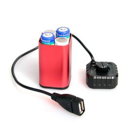 Lampade per telefono online-Caso di copertura della casa del contenitore di batteria resistente all'acqua del USB per la lampada della luce della bicicletta del faro della bicicletta Telefono
