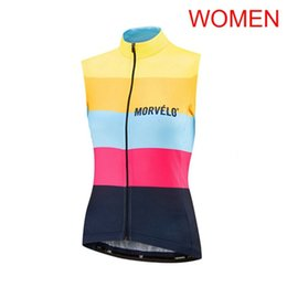 sleeveless women cycling jersey Coupons - 2019 MORVELO Team Summer Cycling Jersey Vest Women Bike Sleeveless tops breathable quick dry mtb bicycle Clothes Sports Uniform Y061802