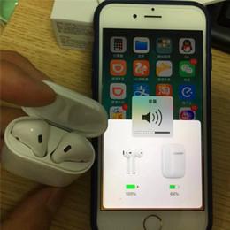 2019 show de batería Animación que muestra H1 Chip Bluetooth Auricular doble para Airpods Auriculares Touch Control de voz Calidad de sonido superior Batería de alto nivel show de batería baratos