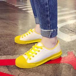 Sapatos de lona de cor vermelha on-line-Moda Lazer Outono 2019 Nova Moda Sapatos Vermelhos com Centenas, Fundo Grosso, Sapatos de Lona Coreano, Sapatos Coloridos para Esportes