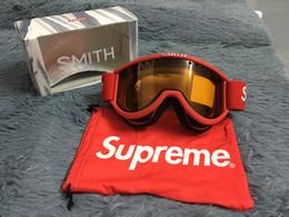 Marcas de óculos de neve on-line-Sup Cariboo Smith Óculos de Esqui OTG 3 Cor Vermelho Azul Preto Sup Óculos NOVOS COM RECEPÇÃO de FW15 Box Ride Trabalhador inverno óculos de neve