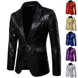 2019 куртка мужская коричневая Mens черный блестки Blazer куртки 2019 осень Новый ночной клуб Пром Blazer Мужчины пиджак DJ Bar Party Stage Singer костюм Homme