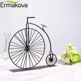Ornamentos em metal velhos on-line-Ermakova Metal Artesanato Modelo Antigo Da Bicicleta Retro Vintage Antigo Modelo de Bicicleta Antigo Bicicleta Clube Ornamento Home Office Decoração Bmt-03 J190712