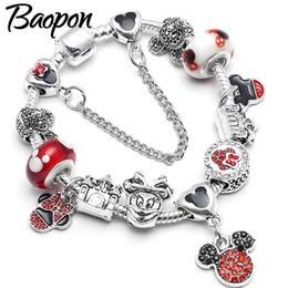 2019 braccialetto di dropshipping BAOPON europeo ciondola i braccialetti dei braccialetti di fascino per le donne con i branelli dello smalto di DIY i monili fini del braccialetto Dropshipping sconti braccialetto di dropshipping