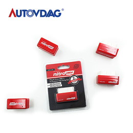 Caja de ajuste de chip nitro obd2 online-precio de la promoción de Red NitroOBD2 Diesel Car Chip Tuning Box Plug and Drive OBD2 Chip Tuning Box Nitro OBD2