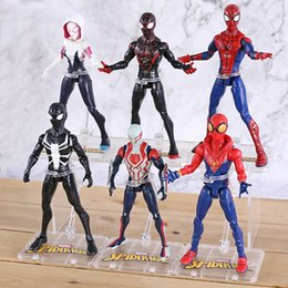 film heroes Coupons - Action Figure Gifts Film SpiderMan Toy Returning Heroes Gwen Stacy Spider Vrouw Spider Man Cartoon Speelgoed Action Figure Model Doll Gift