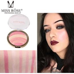 Радужный ярлык онлайн-Новое прибытие Мисс Роза 10 цветов Радуга Highlighter Bronzer лицо порошок Iluminador Glow Kit осветитель макияж