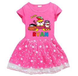 beste kinder sommerkleider Rabatt Kinder Ryan Spielzeug Kleid für Mädchen aus reiner Baumwolle Sommer Kurzarm-Rock das beste Geschenk für Mädchen freies Verschiffen