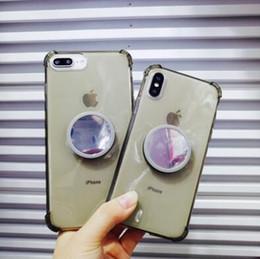 Großhandel eckklammern online-iPhone xs max vier ecke anti-drop für apple xr airbag halterung 7g spiegel soft shell tpu telefon shell 6s großhandel