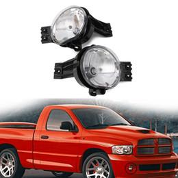 Conjunto de luz antiniebla online-1 par de faros antiniebla claros que conducen las lámparas de parachoques para Dodge Ram 1500 2500 3500 2002-2008 pickup Automobiles Light Assembly