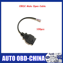 2019 adaptadores de cable obd2 Adaptador de cable abierto 100PCS OBD2 16pin extensión Mujer Venta caliente Conector de interfaz de cable masculino de OBDII 16 adaptador OBD Pin rebajas adaptadores de cable obd2