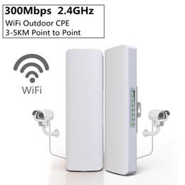 rede sem fio ao ar livre Desconto 2 pçs / lote 300 Mbps 2.4 Ghz Ao Ar Livre Mini Sem Fio Ponte WI-FI CPE Ponto de Acesso WI-FI Dupla 2 * 14dBi WI-FI Antena WI-FI Ponte de Rede HHA102