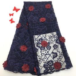Laços africanos Tecido Bordado nigeriano Guipure Tecido de Renda Francesa de Alta qualidade 2019 Africano Francês Tecido de Renda Líquida RF128 de Fornecedores de vestidos de casamento de neve