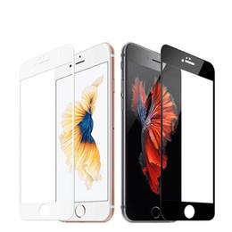 Iphone gehärtetes glasschirmschutz bunt online-9H 0.2mm 2.5D buntes ausgeglichenes Glas der vollen Abdeckung für iPhone X 6S explosionssicherer Schirm-Schutz-Film für iPhone 8 Plus