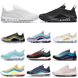 D rose scarpe nuove online-nike air max 97 Hot Running Shoes Court viola South Beach Barely Rose Triple Bianco Nero Have a day Uomo Donna Trainer Sports Sneaker Taglia 36-46