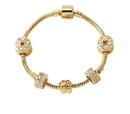 DIY Fashion 18K Gold Pig Charm European Spacer Beads Fit Necklace Bracelet #/%