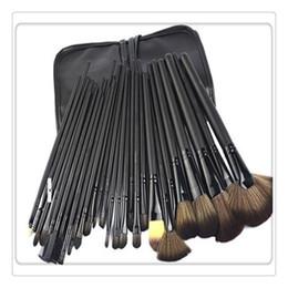 Pennelli trucco impostato 32 pz online-Pennelli per trucco 32 PCS Set di strumenti per pennelli per trucco in lana con custodia in pelle PU Cosmetico per il viso Make up Brush Kit Strumenti Nuovo arrivo