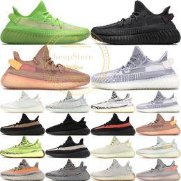 Arcilla Estática V2 Forma verdadera Hiperespacio Mantequilla Sesamo Kanye West Nuevas zapatillas Zebra Bred Black Stripes zapatillas de deporte Tamaño 36-48 con caja desde fabricantes