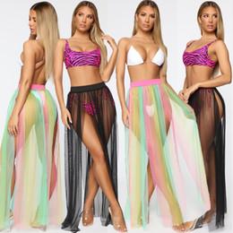 Women/'s Beach Sarong Bikini Coprire Pareo nappe Estate Stampa nero rosa