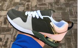 Hot Luxury Popular de cuero zapatos casuales mujer hombre diseñador zapatillas de deporte zapatos de cuero con cordones zapato color mezclado desde fabricantes