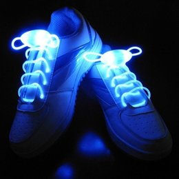 2020 sapatas de incandescência do néon 1 Par 80 CM Multi-Cor Neon LED Light Bright Shoe atacadores Beautiful alta visibilidade luzes de néon para sapatas de incandescência do néon barato