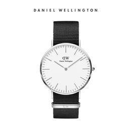 Лучшие черные наручные часы онлайн-Лучшие продажи 2018 Даниэль 40 мм корпус черная стальная сетка группа 6 мм супер тонкий мода Wellington DW стиль наручные часы для человека